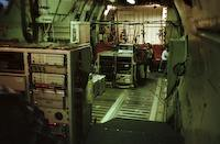HP computers and atmospheric water experiment, looking aft