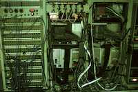 Left: experiment patch panel - right: HP computers